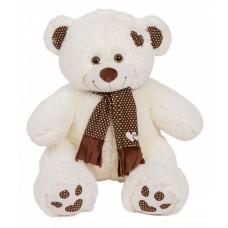 Медведь Тони с шарфом В85 молочный  (МТШ/45/52)