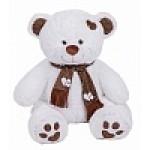 Медведь Тони с шарфом В110 белый МТШ5631