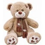 Медведь Тони с шарфом В85 кофейный  МТШ4582