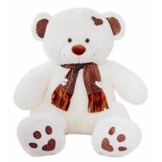 Медведь Тони с шарфом В120 молочный   (МТШ/65/52)