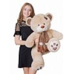 Медведь Тони с шарфом В110 кофейный МТШ5682