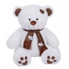 Медведь Тони с шарфом В110 белый (МТШ/56/31)