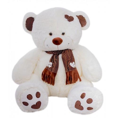 Медведь Тони с шарфом В110 молочный (МТШ/56/52)