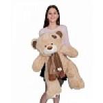 Медведь Тони с шарфом В120 кофейный  МТШ6582